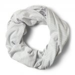 Nosilife Infinity Scarf, soft grey stripe